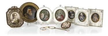 8 Miniatures, And Lorgnette