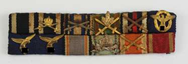 Large Ribbonbar of a highly decorated air force officer with 12 awards.