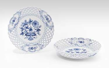 Plate and bowl, Meissen