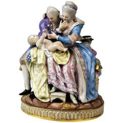 MEISSEN FIGURE GROUP: THE HAPPY PARENTS