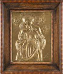 HUGO CITIZENS, in 1872, Bad münster Eifel - 1958 Paderborn Relief 'Maria with child'