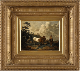 Western Europe, late XIX century, oil on wood