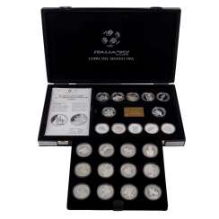 Football world Cup 1990 Italy - 24 sterling silver medals,