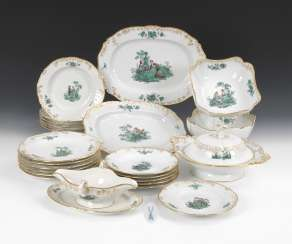 Dining service with copper green painting, MEISSEN
