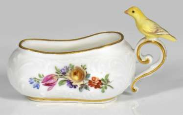Miniature Bourdalou with Canary