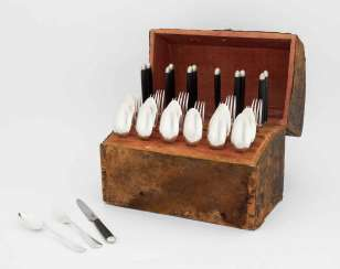 Flatware service in casket