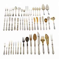 Mixed lot of 75 pieces, serving cutlery,