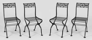 Set of four garden chairs
