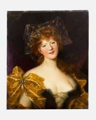 French artist 19th century portrait of a lady signed upper left J