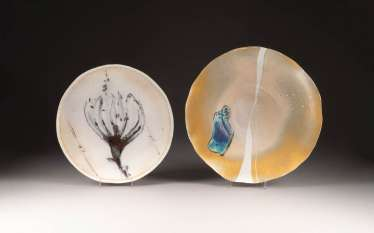 SET OF FIVE ARTIST-PORCELAIN OBJECTS