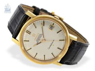 Watch: fine Omega Constellation Automatic chronometer in 18K Gold, built in 1966, probably never worn!