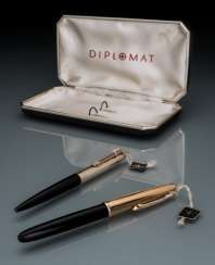 Diplomat Mr pen set made of 14K Gold