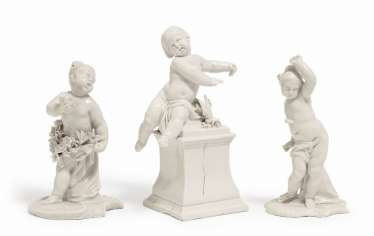THREE CUPIDS Nymphenburg, 2. Half of 18. Century, model by F. A. Bustelli, and D. Auliczek