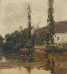 Jettel, Eugen - farmstead by the pond