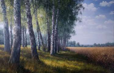 In the shade of birches