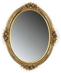 Oval Wall Mirror, Gestuckt