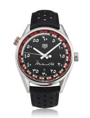 TAG HEUER, CARRERA, MUHAMMAD ALI TRIBUTE, MIDDLE EAST EDITION, REF. WAR2A12, NO. 488 OF 750