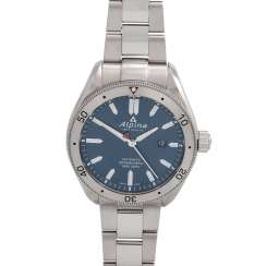 ALPINA-Alpine 4 men's watch, Ref. AL-525NS5AQ6B. Stainless steel.