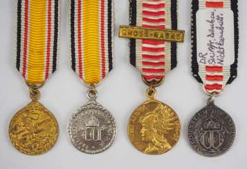 Lot Miniatures-for-China - and southwest-Africa commemorative medal.