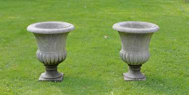 Pair of large garden vases
