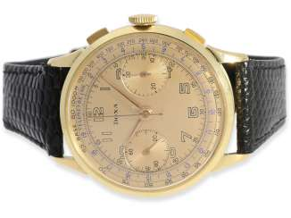 Watch: exceptionally large, earlier Doxa Chronograph in 18K Gold, 40s