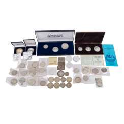 Silver coins and different, with BRD