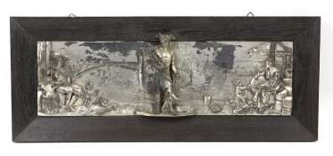 silver plated wall relief *trade*