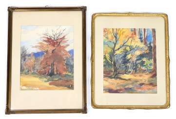 2 Landscape Watercolours - Möbus-In, Karl