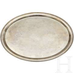 An oval Serving Platter from Silver Service