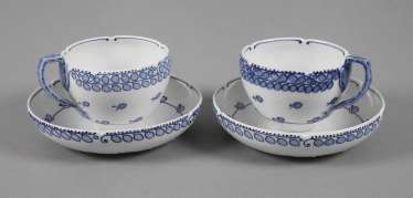 Meissen two coffee Richard riemerschmid cups
