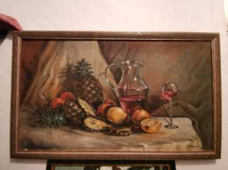 Antique oil painting Russia around 1930