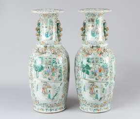 Pair of Canton Vases