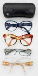 Four Designer eyewear from Chanel, Gucci and Cazal