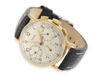 Watch: more interesting, earlier Gold Chronograph by Jaeger, probably 40s
