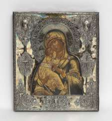 Wladimirskaja, Mother of God, around 1840 - tempera with gold on wood