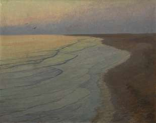 Weidemann, Magnus - a Silent night on the North sea beach