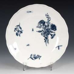 Plate with blue painting, MEISSEN.