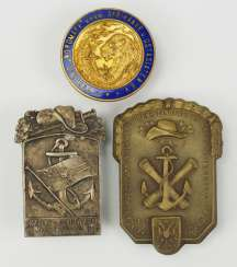 Veterans Association: Lot of 3 Colonial war Association, badge.
