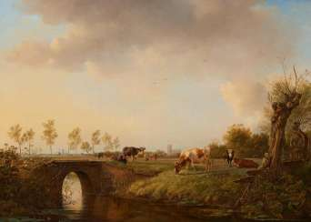 Dutch pasture landscape