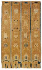 Rare pillar carpet with the Eight Buddhist treasures