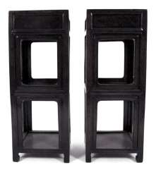 PAIR OF SIDE TABLES, CHINA,