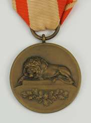 Prussia: kurhess of the anniversary Medal from gun bronze for the 2. Kurhess Of Infantry Regiment No. 82.