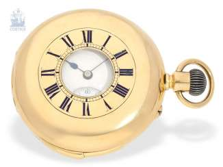 Pocket watch: fine English half-savonnette with Repetition, the Royal watchmaker Klaftenberger London No. 12125, CA. 1880