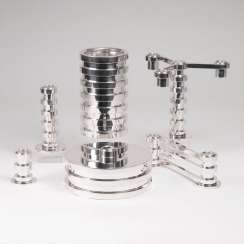 6-piece set of modern table accessories 'Ruban'