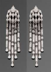 Pair of very fine diamond chandeliers