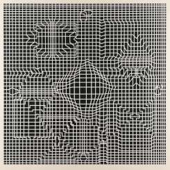 VICTOR VASARELY 1906 Pécs, Hungary - 1997, Paris. UNTITLED (COMPOSITION IN BLACK AND WHITE)