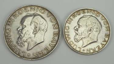 Bavaria: 3/2 Mark - Ludwig of Bavaria, 1914.