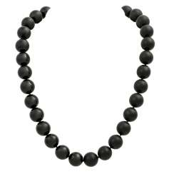 "Onyx necklace with interchangeable clasp ""starry sky"""
