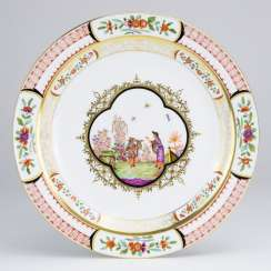Exceptional Ceremonial Plate: Meissen Porcelain. Chinoiserie, Johann Georg Höroldt. Pfeiffer-Period 1924-34. Very rare.