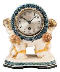 Table clock with Putti